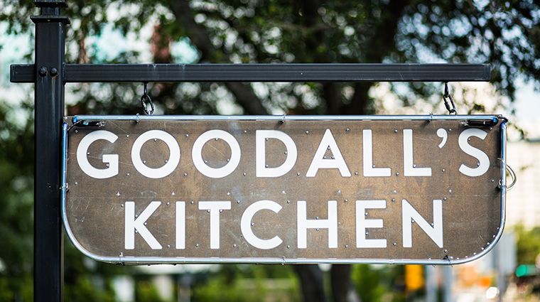goodalls kitchen bar sign