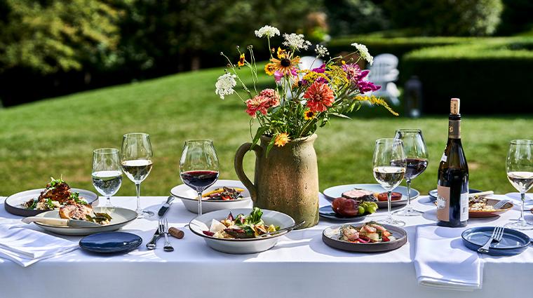 grace mayflower inn spa garden menu