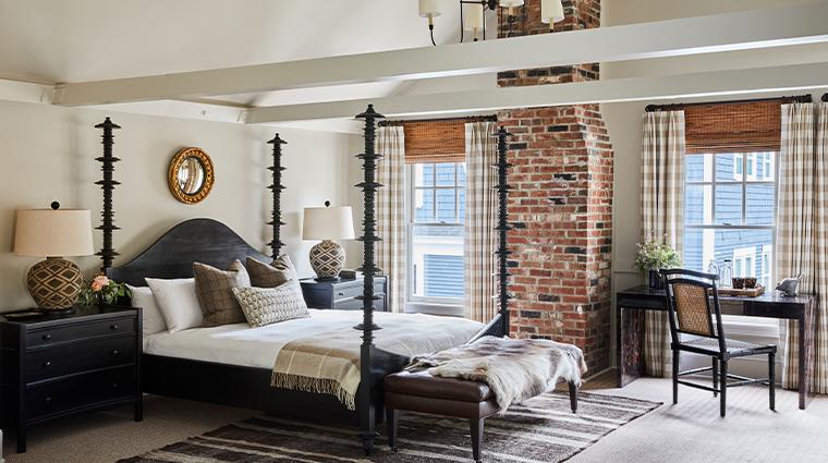 grace white barn inn spa loft suite bedroom