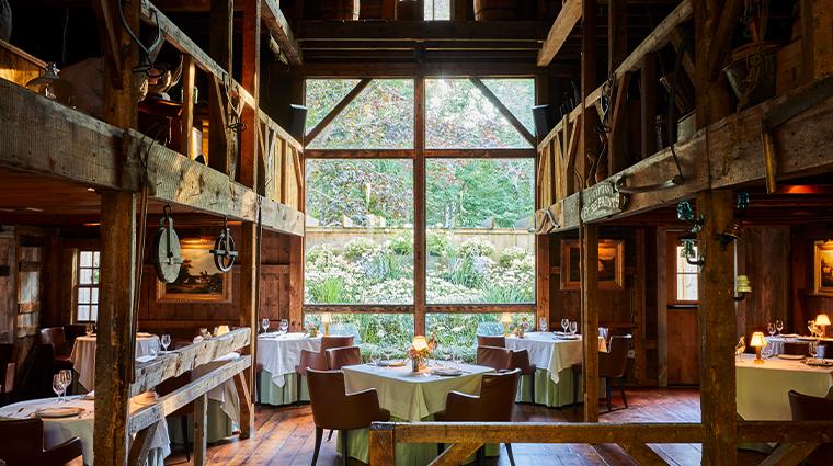 grace white barn inn spa main dining