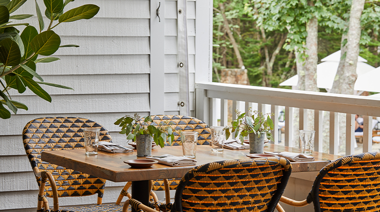 grace white barn inn spa outdoor seating