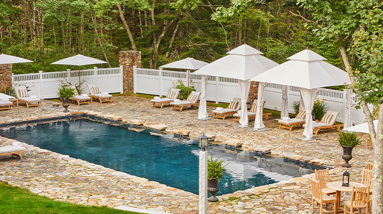 grace white barn inn spa pool