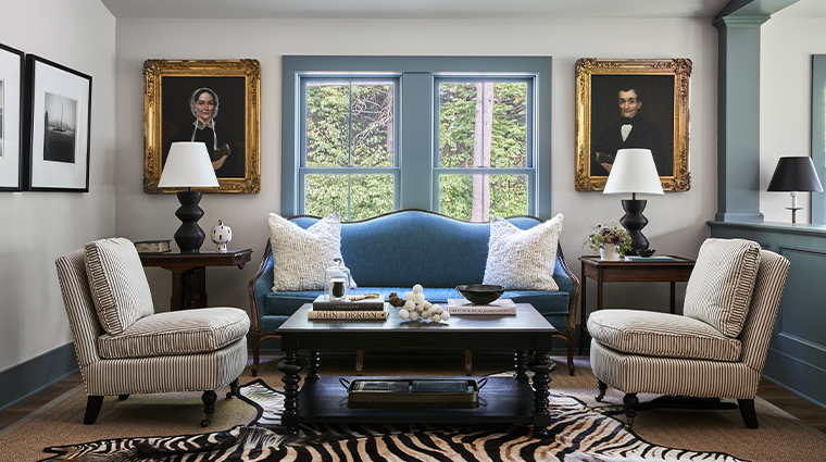 grace white barn inn spa public space living room