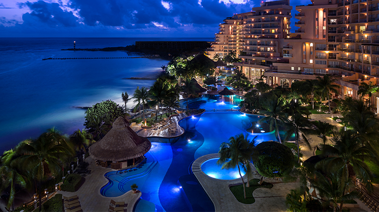 grand fiesta americana coral beach cancun pool view