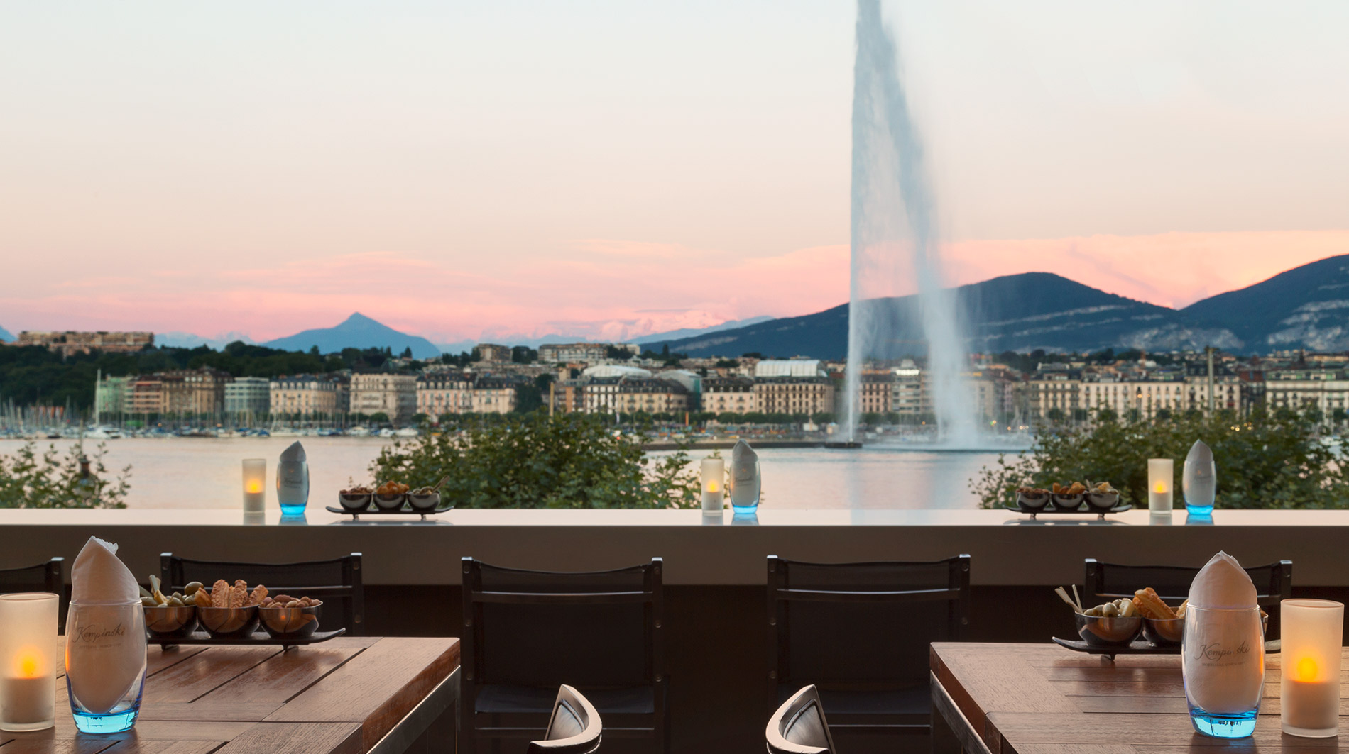 Kempinski Geneva fountain