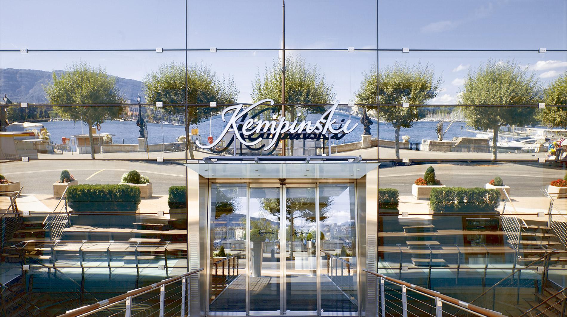 Kempinski Geneva front door