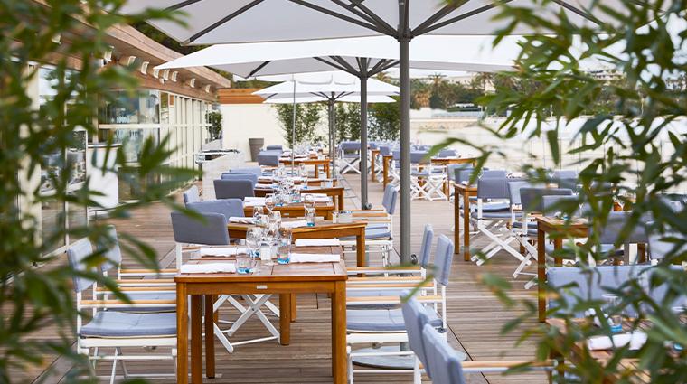 hotel martinez la plage du martinez terrace eating