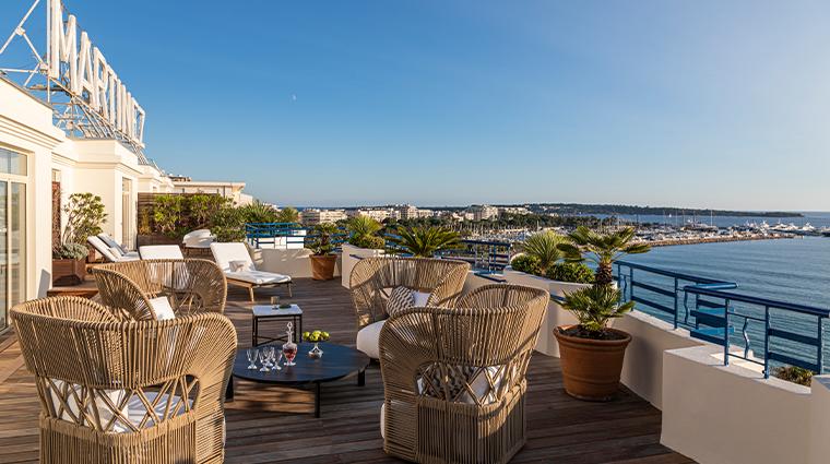 hotel martinez suite penthouse terrace view2