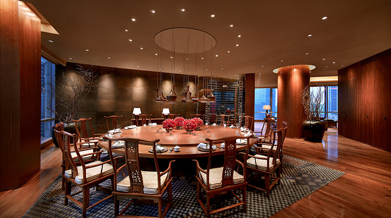 Grand Hyatt Guangzhou penthouse dining