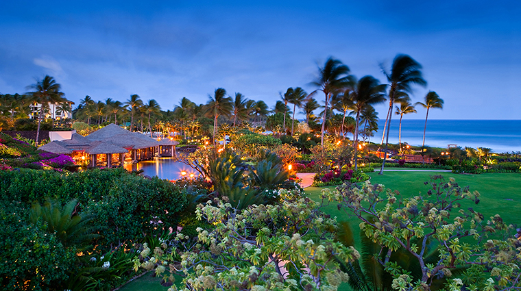 grand hyatt kauai resort and spa upper lawn view