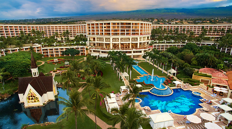 grand wailea a waldorf astoria resort aerial