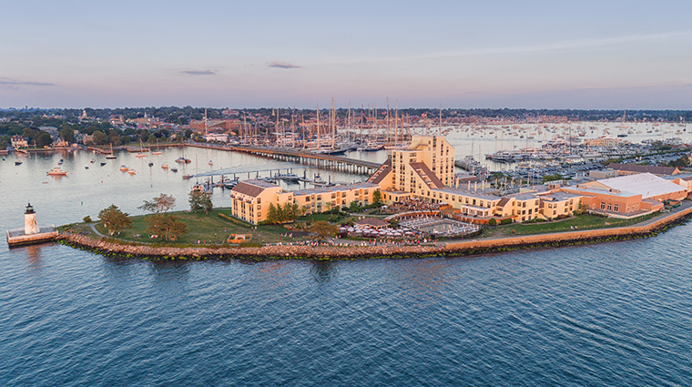 gurneys newport resort and marina aerial