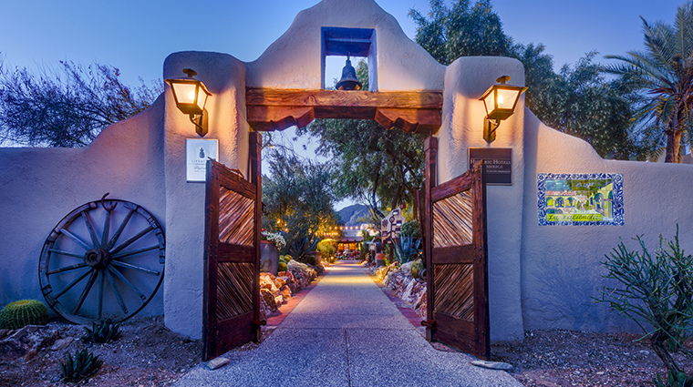 hacienda del sol guest ranch resort front entrance