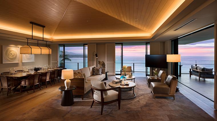 halekulani okinawa Halekulani Suite Living Room