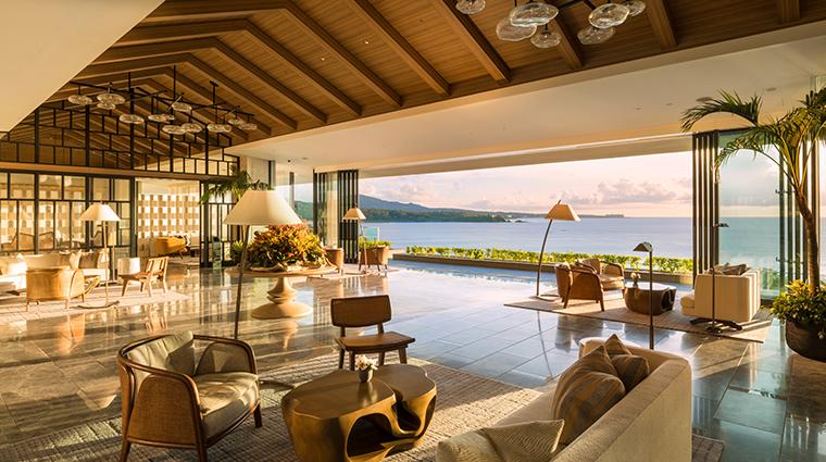 halekulani okinawa sunset lobby