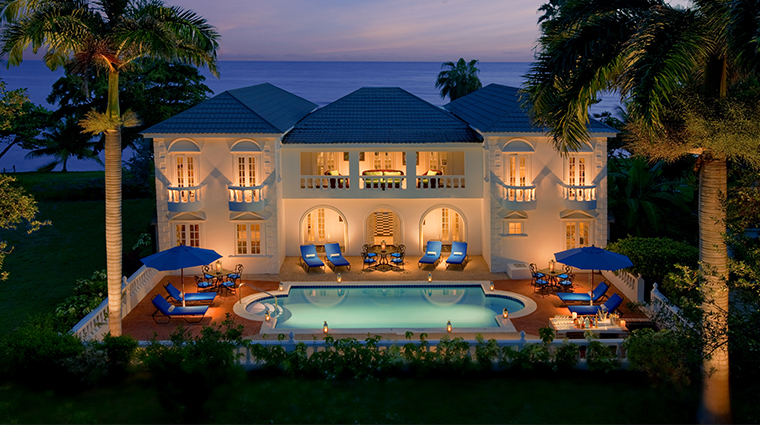 half moon jamaica ocena front villas night