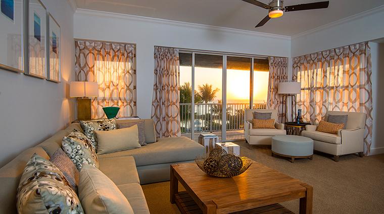 hawks cay living room sunset