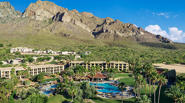 hilton tucson el conquistador golf tennis resort aerial view