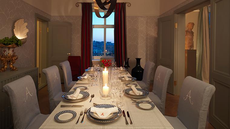 hotel astoria a rocco forte hotel tsar suite dining