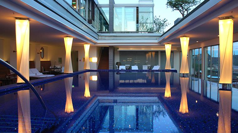 Bayerischer Hof pool dusk