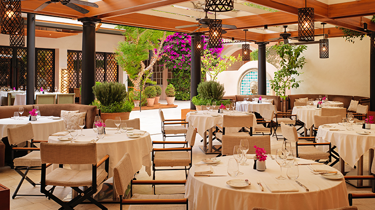 hotel bel air outdoor seating