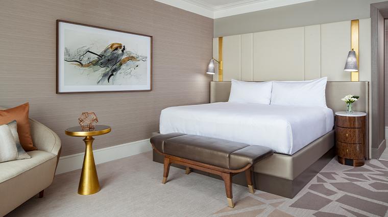 crescent court hotel dallas guest room king bedroom