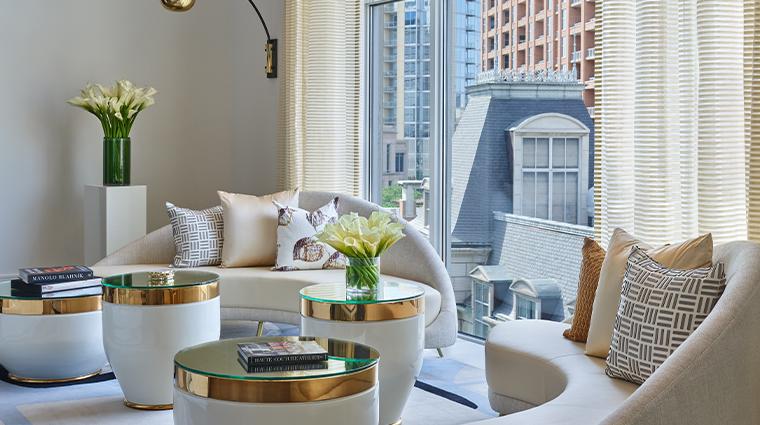 crescent court hotel dallas presidential suite living room