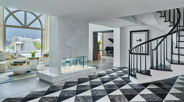crescent court hotel dallassuite presidential foyer