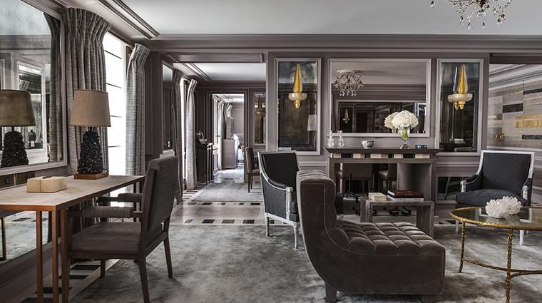 hotel de crillon a rosewood hotel Suite Bernstein living room