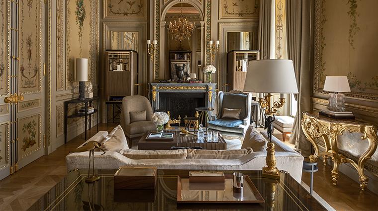 hotel de crillon a rosewood hotel Suite Duc de Crillon living room