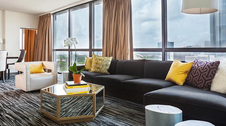 hotel derek penthouse suite living room