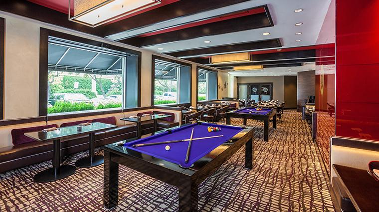 hotel derek revolve kitchen and bar pool tables