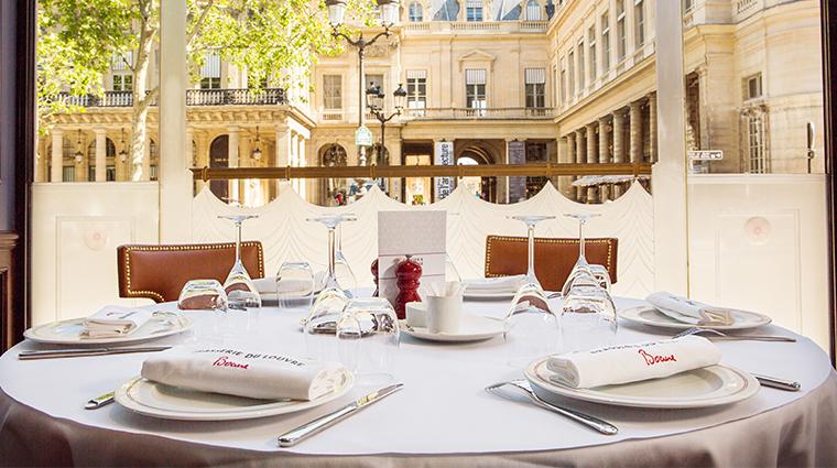 Hotel Du Louvre Brasserie Du Louvre Bocuse Table View