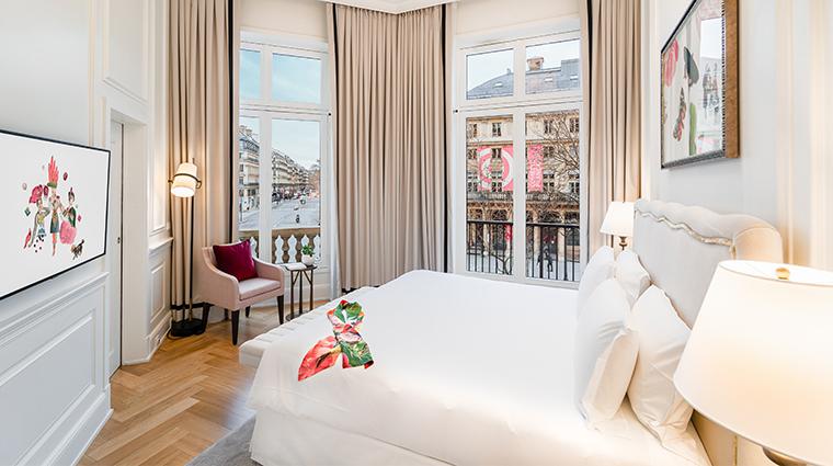 Hotel Du Louvre Suite Pissarro Bedroom View