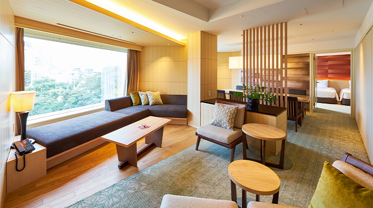 hotel gajoen tokyo ambassador suite living room