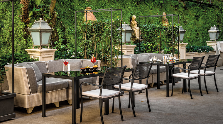 hotel hassler roma palm court garden