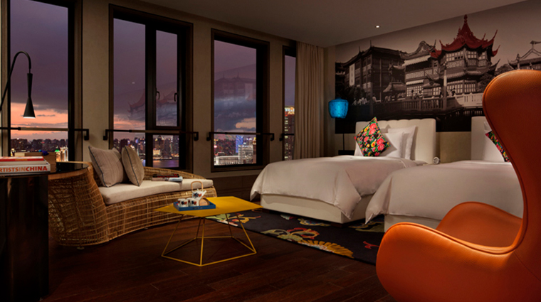 hotel indigo shanghai on the bund pudong skyline view