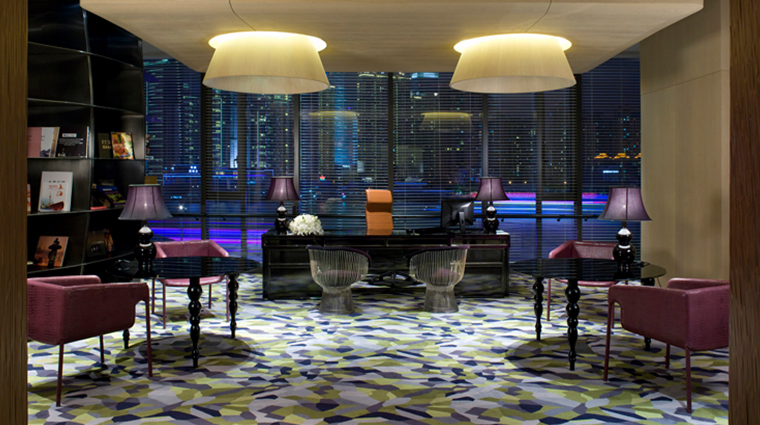 hotel indigo shanghai on the bund reception