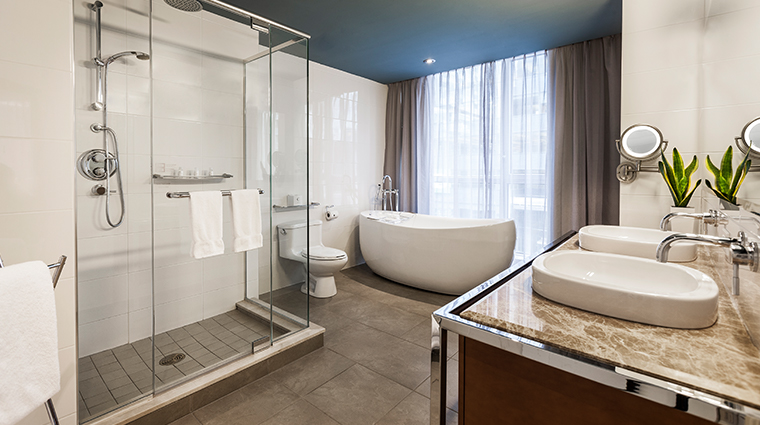 hotel le crystal executive suite bathroom