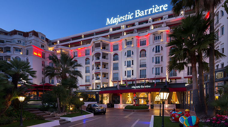 hotel barriere le majestic exterior night