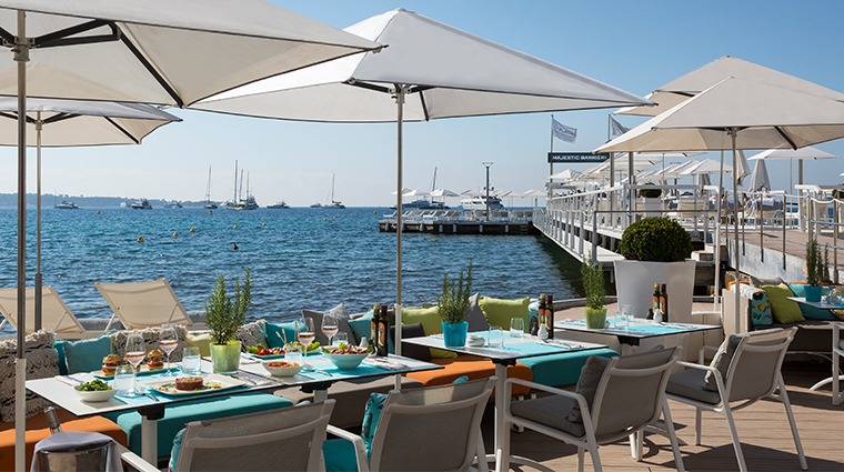 hotel barriere le majestic restaurant and dock