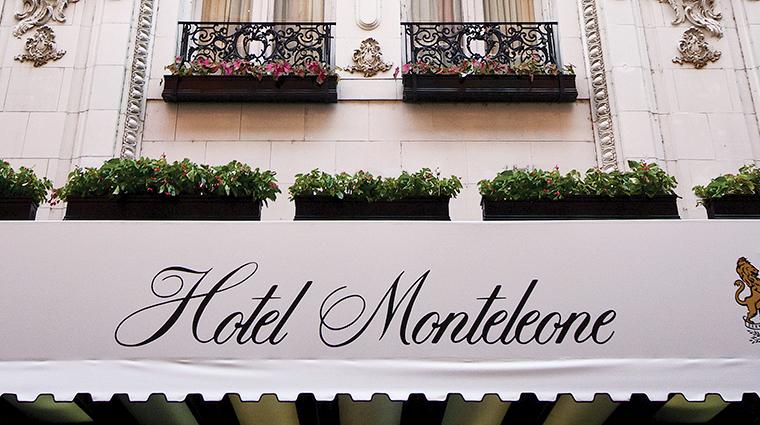 hotel monteleone sign