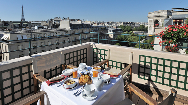 hotel napoleon paris terrace
