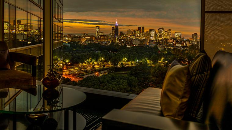 hotel new otani tokyo executive house zen executive lounge view night