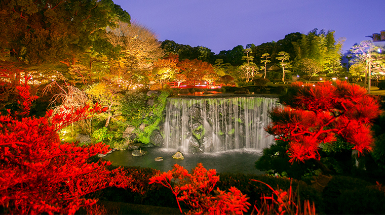 hotel new otani tokyo executive house zen japanese garden waterfall