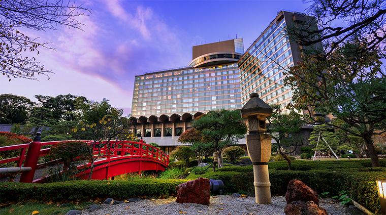 hotel new otani tokyo the main exterior sunset