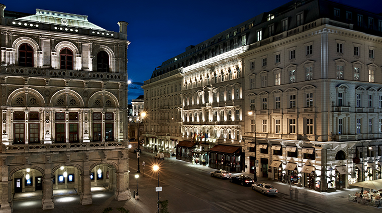 hotel sacher wien exterier night