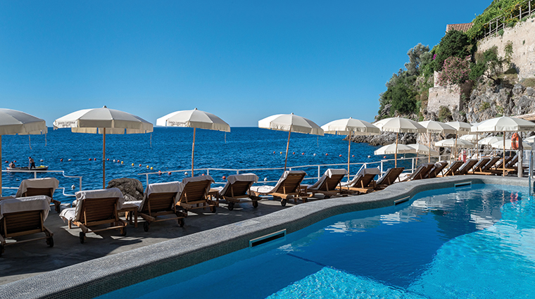 hotel santa caterina pool and loungers