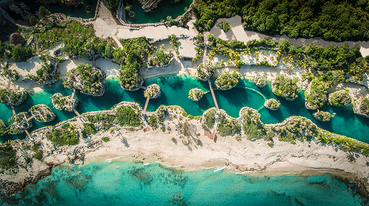 hotel xcaret mexico aerial