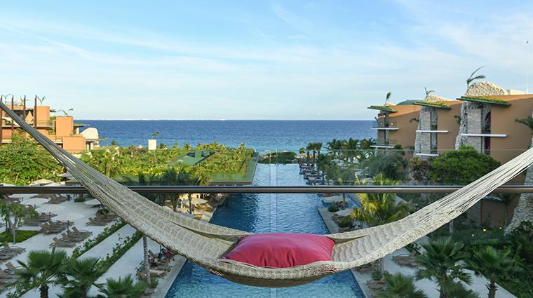 hotel xcaret mexico hammock view